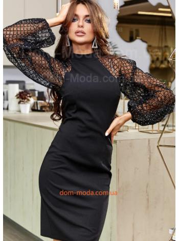 Плаття із пишним рукавом
