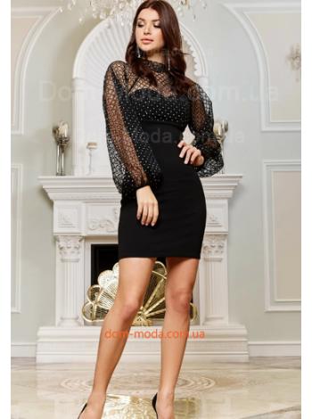 Вечірня сукня із сіткою