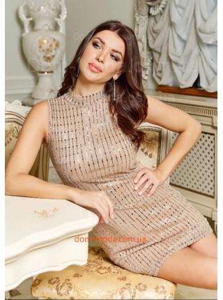Сукня без рукав із люрексом