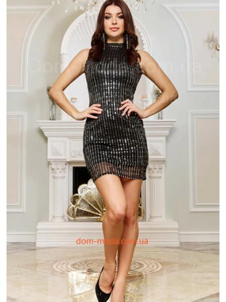 Платье без рукав с люрексом