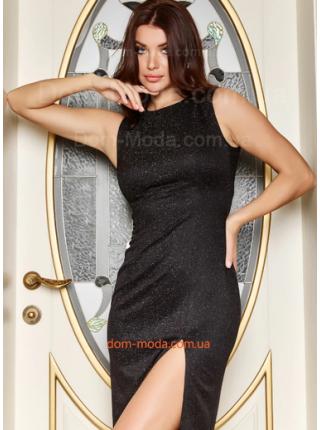 Вечірня сукня із вирізом