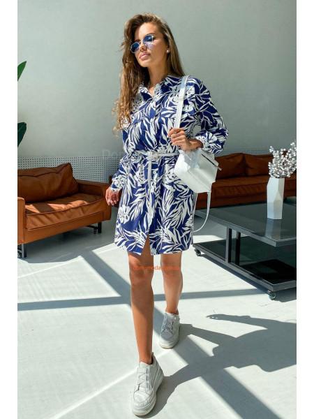Платье рубашка из льна