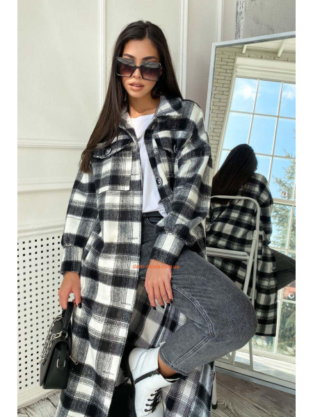 Кашемировое пальто рубашка