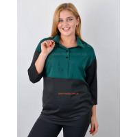 Жіноча модна туніка рубашка для повних жінок
