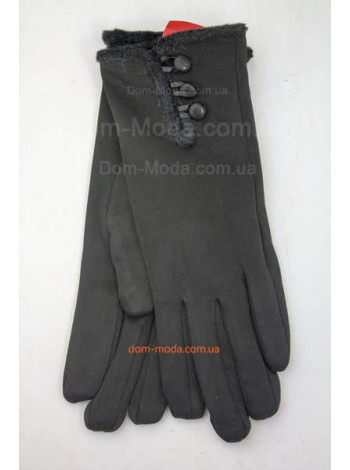 """Зимние женские перчатки на меху """"Три пуговицы"""""""