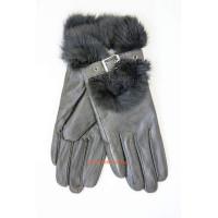 """Жіночі шкіряні рукавички """"З хутром"""""""