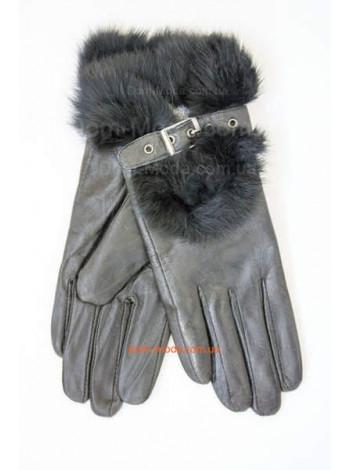 """Женские кожаные перчатки """"С мехом"""""""