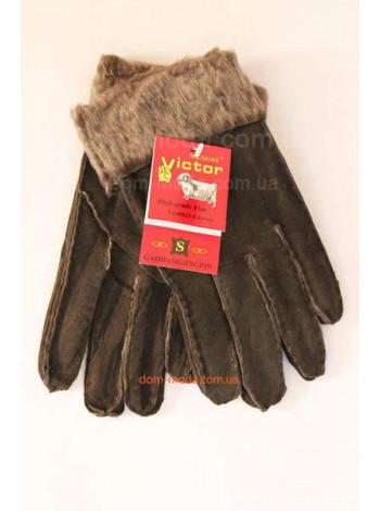"""Теплі жіночі рукавички """"Натуральна шкіра"""""""