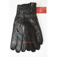 """Зимние кожаные перчатки с толстым мехом """"Резинка"""""""