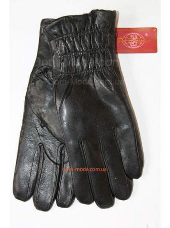 """Зимові шкіряні рукавички з товстим хутром """"Резинка"""""""