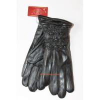 """Шкіряні зимові рукавички з натуральної шкіри """"Тепле хутро"""""""