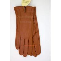 """Рыжие кожаные перчатки """"Терракот"""""""