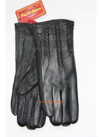 """Стильні рукавички з натуральної шкіри """"Косичка"""""""