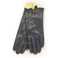"""Черные кожаные перчатки """"Стильная классика"""""""