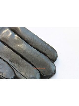 """Черные зимние перчатки из натуральной кожи """"Регина"""""""