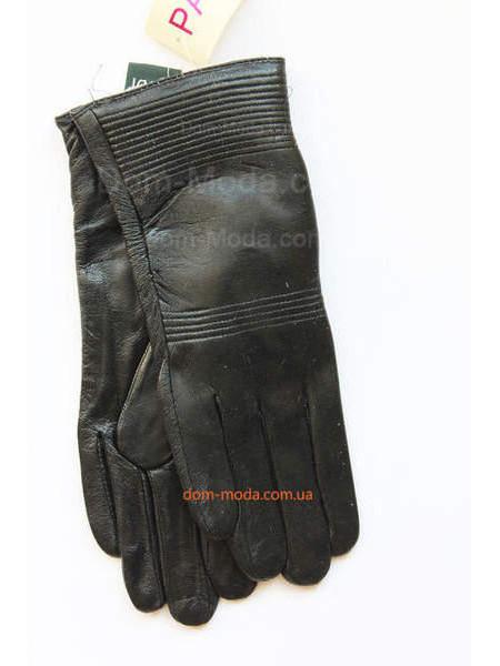 """Чорні зимові рукавички з натуральної шкіри """"Регіна"""""""
