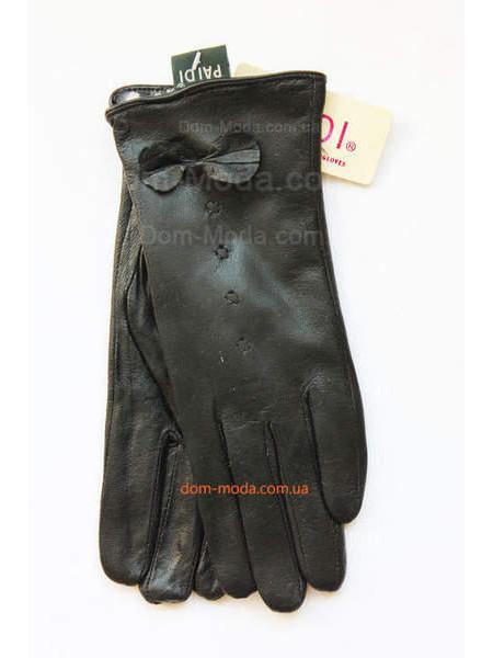 """Теплі шкіряні рукавички """"Бант"""""""