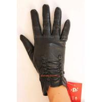 """Кожаные теплые перчатки с искусственным мехом """"Инга"""""""