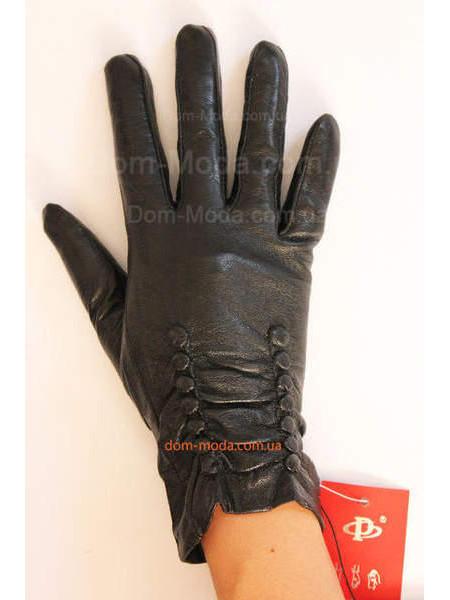 """Шкіряні теплі рукавички зі штучним хутром """"Інга"""""""