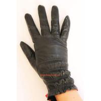 """Шкіряні утеплені рукавички """"Резинки"""""""