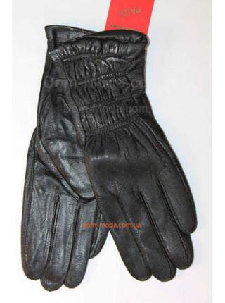 """Кожаные утепленные перчатки """"Резинки"""""""