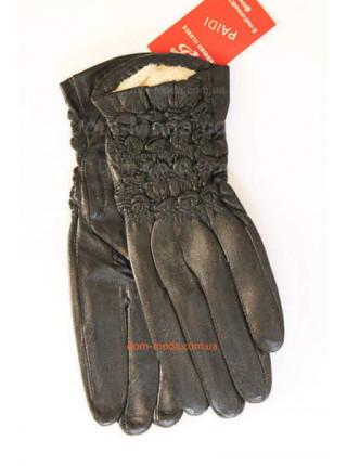 """Утеплені зимові рукавички зі шкіри """"Кіра"""""""