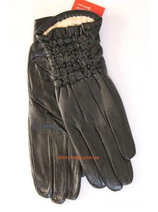 """Жіночі зимові рукавички з натуральної шкіри """"Санса"""""""