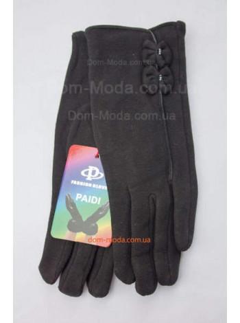 """Жіночі трикотажні рукавички на хутрі """"Бантики"""""""