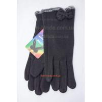 """Чорні зимові рукавички трикотаж """"Джена"""""""