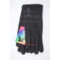 """Зимові чорні рукавички з трикотажу """"Лінсі"""""""