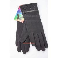 """Женские черные перчатки зима """"Бусинки"""""""
