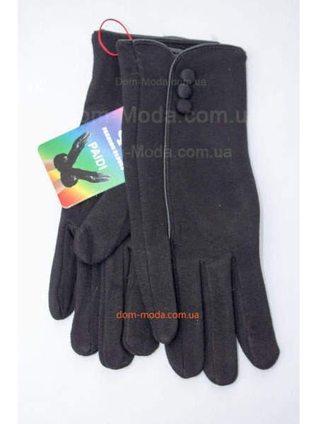 """Чорні жіночі рукавички зима """"Три гудзики"""""""
