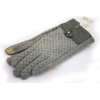"""Серые женские перчатки с сенсорными пальцами """"Дейзи"""""""