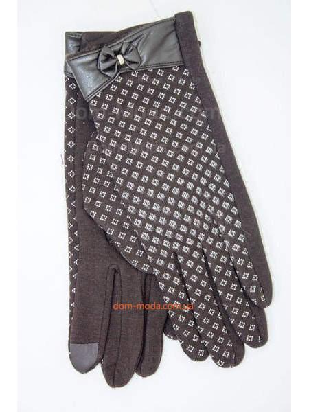 """Коричневые зимние перчатки сенсорные пальцы """"Мона"""""""