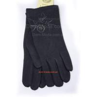 """Чорні зимові рукавички для жінок """"Квіти"""""""