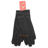 """Зимние женские перчатки черные """"Клэр"""""""