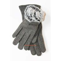 """Зимові сірі рукавички жіночі """"Пейдж"""""""