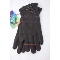 """Женские зимние перчатки черные """"Карина"""""""