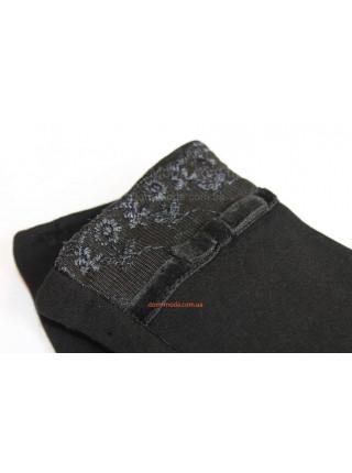 """Черные зимние перчатки женские """"Варвара"""" + Кролик"""
