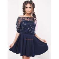Нарядный женский костюм платье с блузой