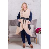 Жіноча модна кашемірова жилетка великого розміру