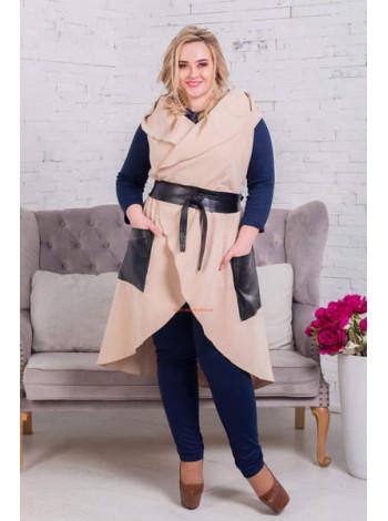 Женская модная кашемировая жилетка большого размера