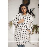 Удлиненная шерстяная женская куртка большого размера