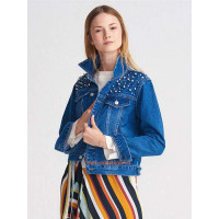 Летняя женская куртка джинсовая