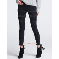 """Жіночі чорні джинси з вишивкою """"Скінні"""""""