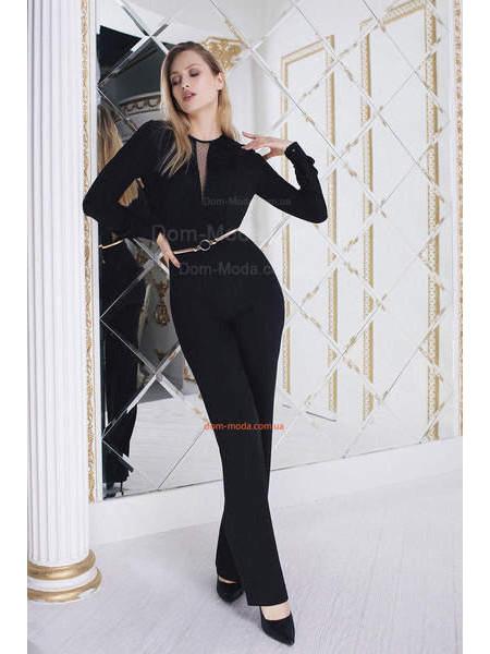 Вечерний элегантный комбинезон женский с длинным рукавом