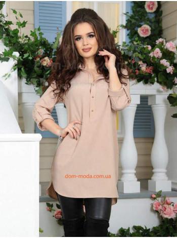 Женская удлиненная блузка туника с рукавом