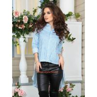 Жіноча модна сорочка фрак в смужку