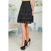 Расклешенная юбка с кружевом