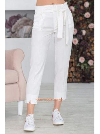 Укороченные брюки с высокой талией